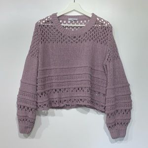 Fate Lavender 'Hayden' Cropped Sweater